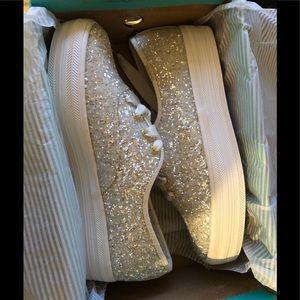 Kate spade + Keds glitter shoes